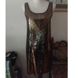 DKNY Sequin Dress Sz P New With Tag